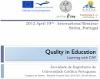 Seminário Internacional: Qualidade na Educação